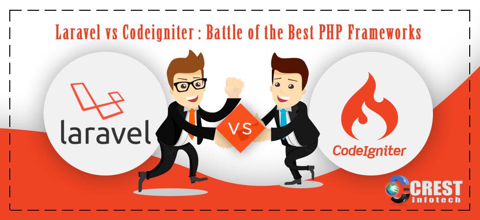 Laravel vs Codeigniter : Battle of the Best PHP Frameworks